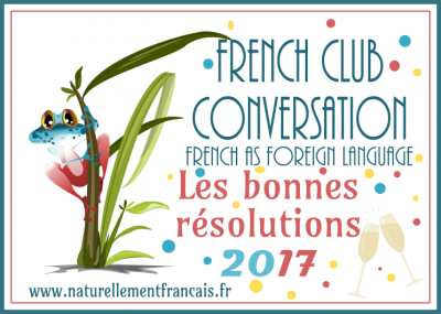 French Club conversation: good resolutions