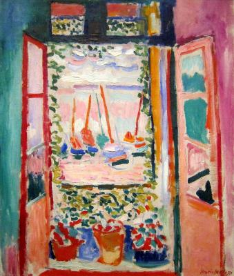 Fenêtre ouverte Matisse