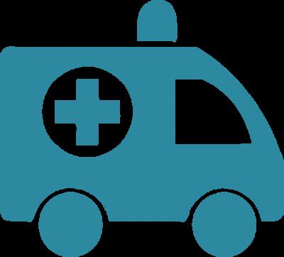 Health ambulance blue