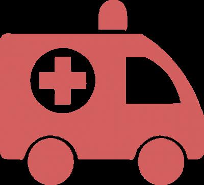 Health ambulance red