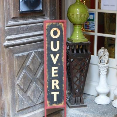 Browse through old shops in charming French medieval villages
