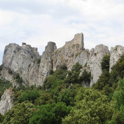 Talking French while exploring cathar castles