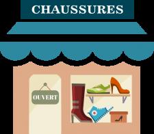 le magasin de chaussures