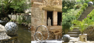 Peebble sculptures in Occitanie