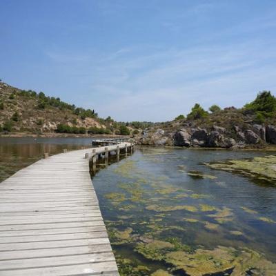 Marcher sur les étangs méditerranéens et apprendre le français