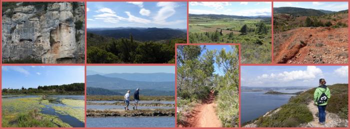 Hiking in preserved landscapes