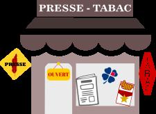 le bureau de tabac et la maison de la presse