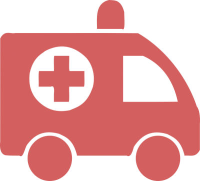 Health ambulance red