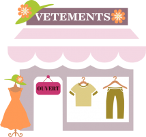 le magasin de vêtements